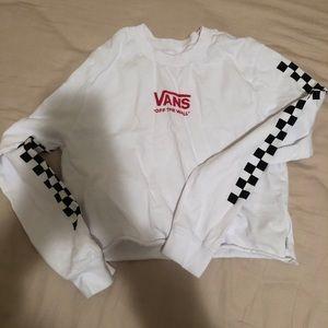 Vans logo crop top